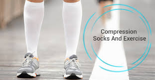 compression socks and exercise image