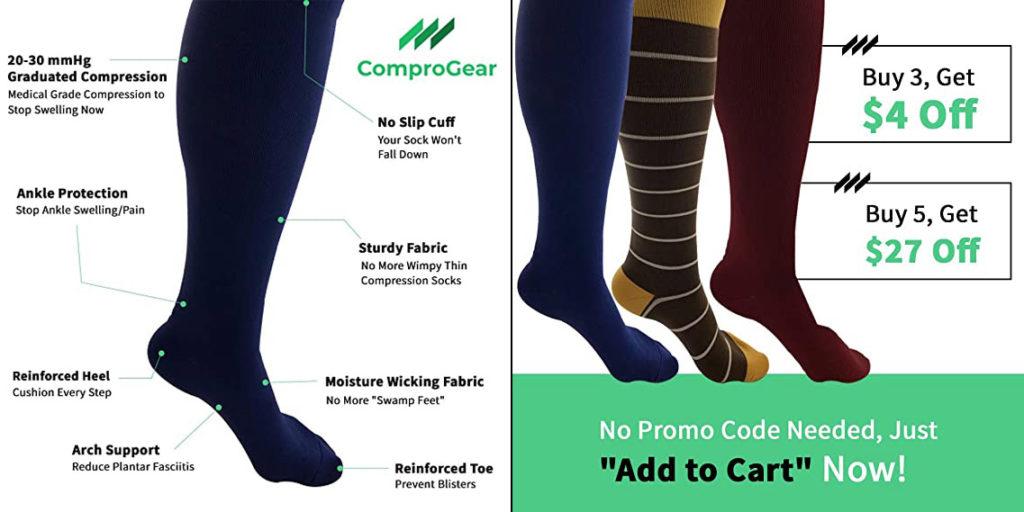 Comprogear Best Compression Socks for Women