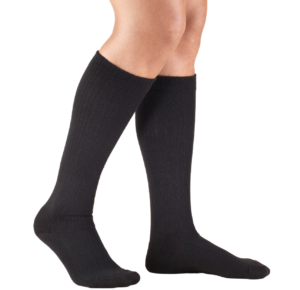 Comprogear Onyx Black Knee High Hosiery for Women's Compression