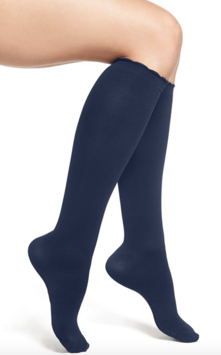Black knee high compression socks