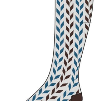 ComproGear Savory Blue Chevrons Compression Socks 20-30 mmHG Knee High