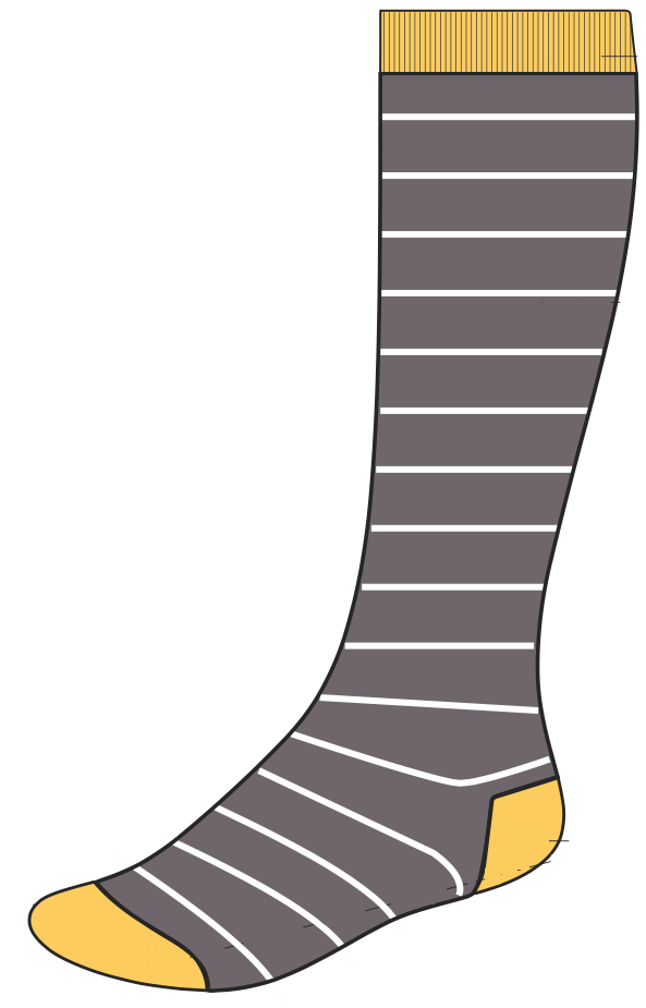 ComproGear's sunset stripes compression sock
