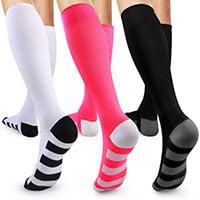 cute knee high 40 - 50 mmHg, 30 - 40 mmHg, 20 - 30 mmHg, or 15 - 20 mmHg womens compression socks