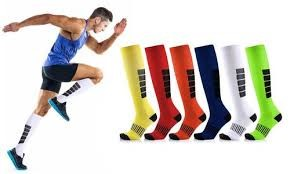 Variety of compression stockings for sportsmen