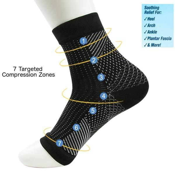 Doc Sock 7 targeted compression zones claim to improve circulation and cure plantar fasciitis in comfort. Read the reviews and decide for yourself if they're really worth the money.