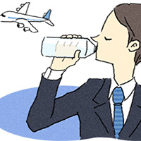 drink water to fight economy class syndrome