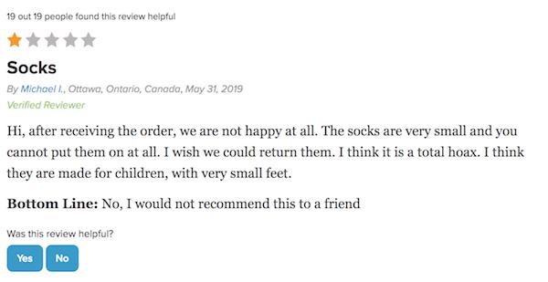 Doc Socks complaint 13