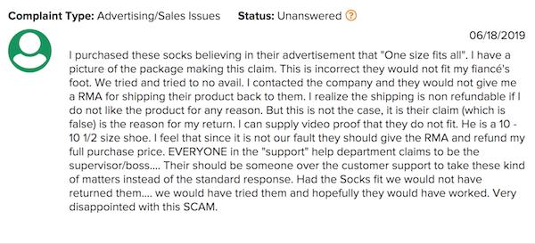 Doc Socks complaint 20