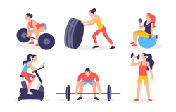 different-people-doing-different-kinds-of-exercises-weight-lifting-treadmill