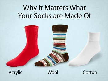 different materials of socks