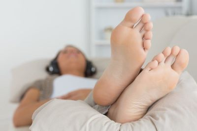 use pillow to elevate your feet