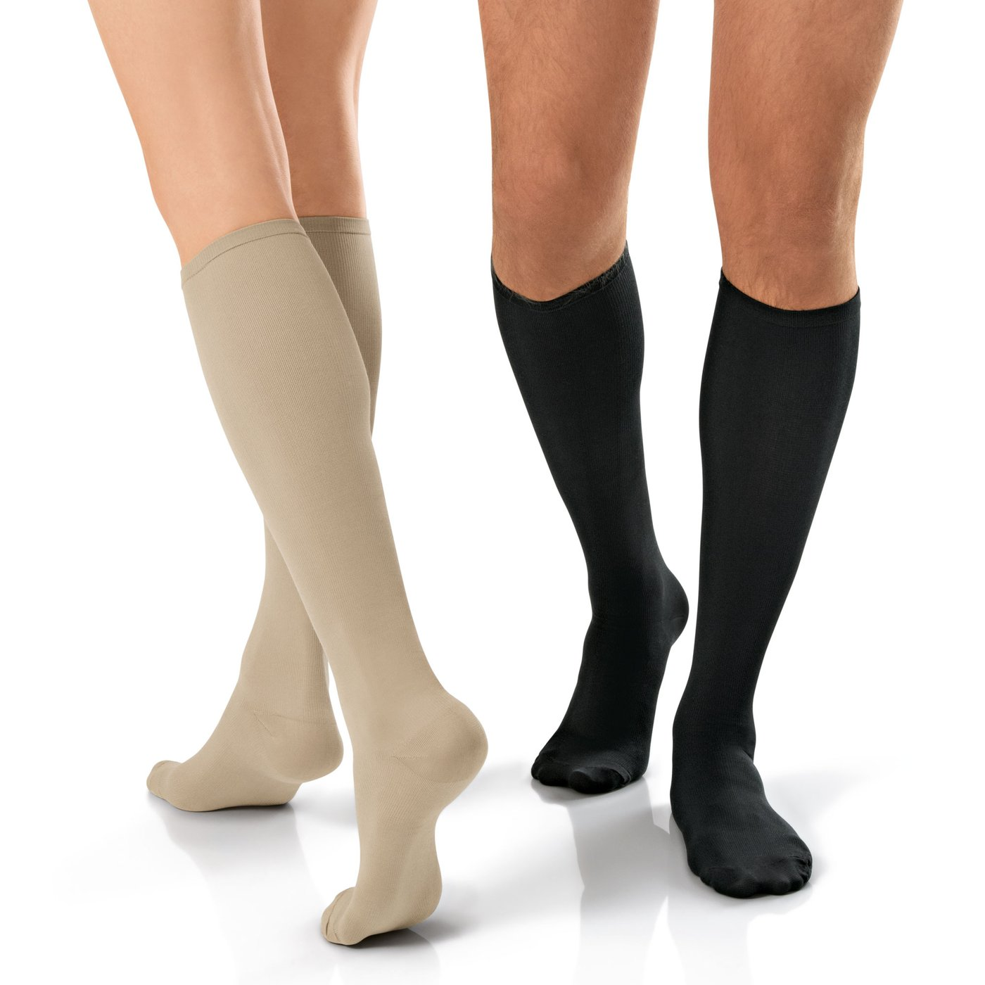image of people wearing travel socks