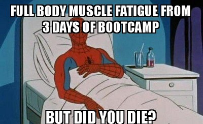 funny meme about muscle fatigue