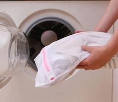 Putting Compression Socks in Garment Bag in Machine