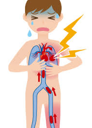 cartoon of a person suffering from heart diseases