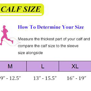 how to determine the size of your legs compression leg sleeves