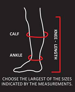 how to fit compression socks