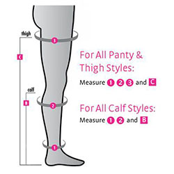 easy way to measure for thigh high compression