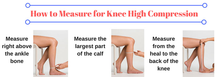 how to measure for knee high compression
