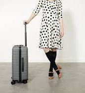 image of lady travelling with compression stocking