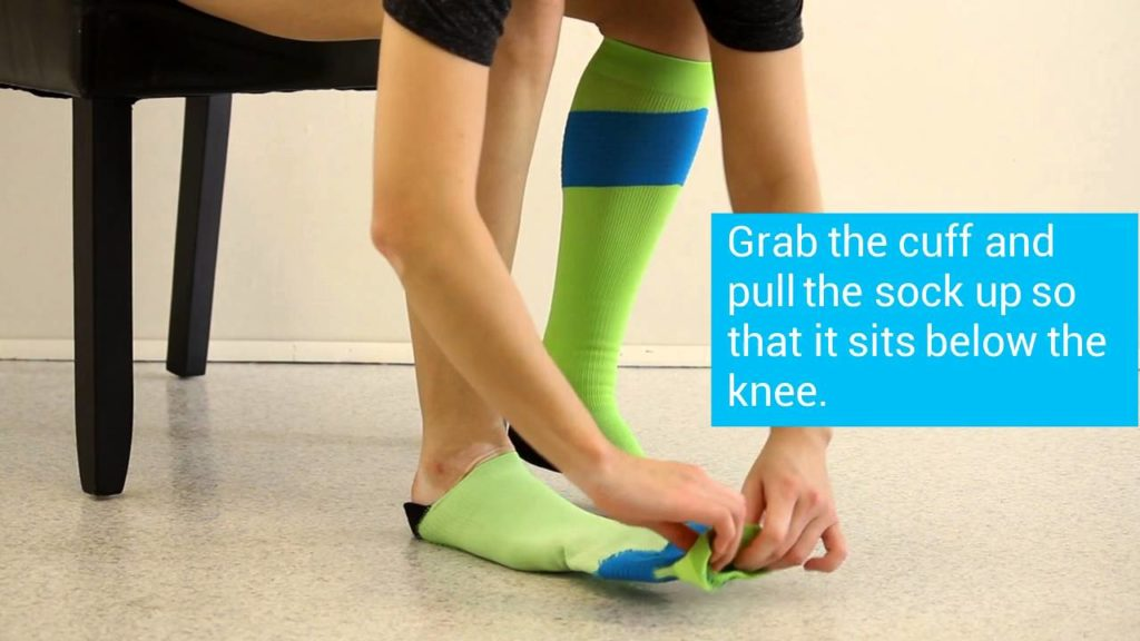 How to put on your wide calf compression socks