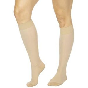 Image of a patient wearing tedhose stockings