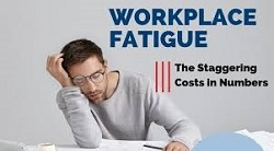 picture of person sleeping in office due to fatigue