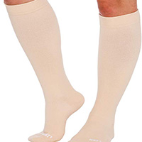 wide calf knee highs plus size support hosiery