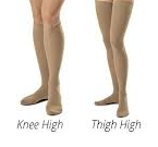 comparison between knee high and thigh high socks