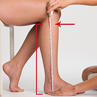 knee length measurment
