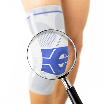 knee sleeves as seen on a magnifying glass