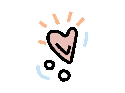 Cartoonised heart