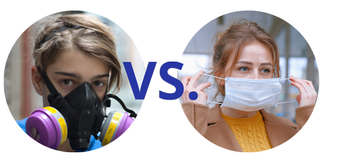 Respirator vs. cloth mask comparison