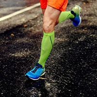 medical socks improves running performance