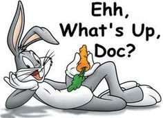 A bugz bunny meme illustrating a compression sock doctor's appointment