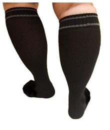 black extra large compression socks