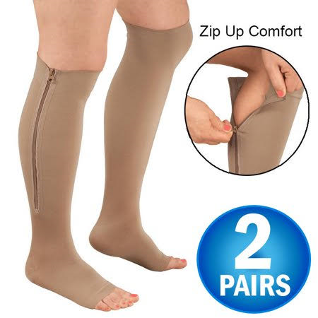 mmHg knee High Zip Compression Socks For Men and Women