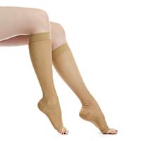 Women's Open Toe Compression Socks 15-20 mmHg