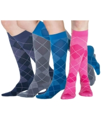 Multi colored knee-high compression socks