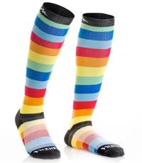 multicolored compression socks