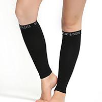 woman wearing no foot compression socks