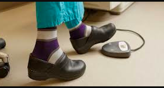 nurse assistant wears xl socks at work