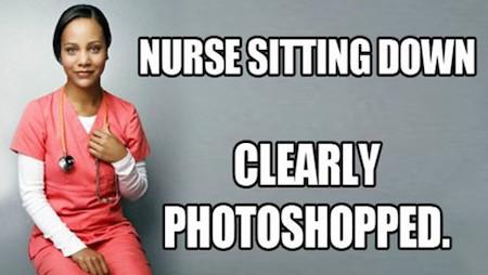 Nurse Sitting Meme