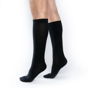 Onyx Black Compression Socks in 20-30 mmHg Compression and Knee High Length