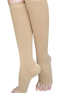 open toe compression stockings