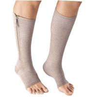 Knee-high toeless compression stockings