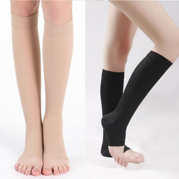 Medium size Toe less women's compression socks