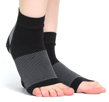 15 - 20 mmHg Open toe ankle circulation legwear