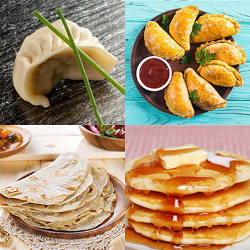 Dumpling, Empanads, Tortillas, Pancakes