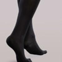 woman wearing padded compression socks